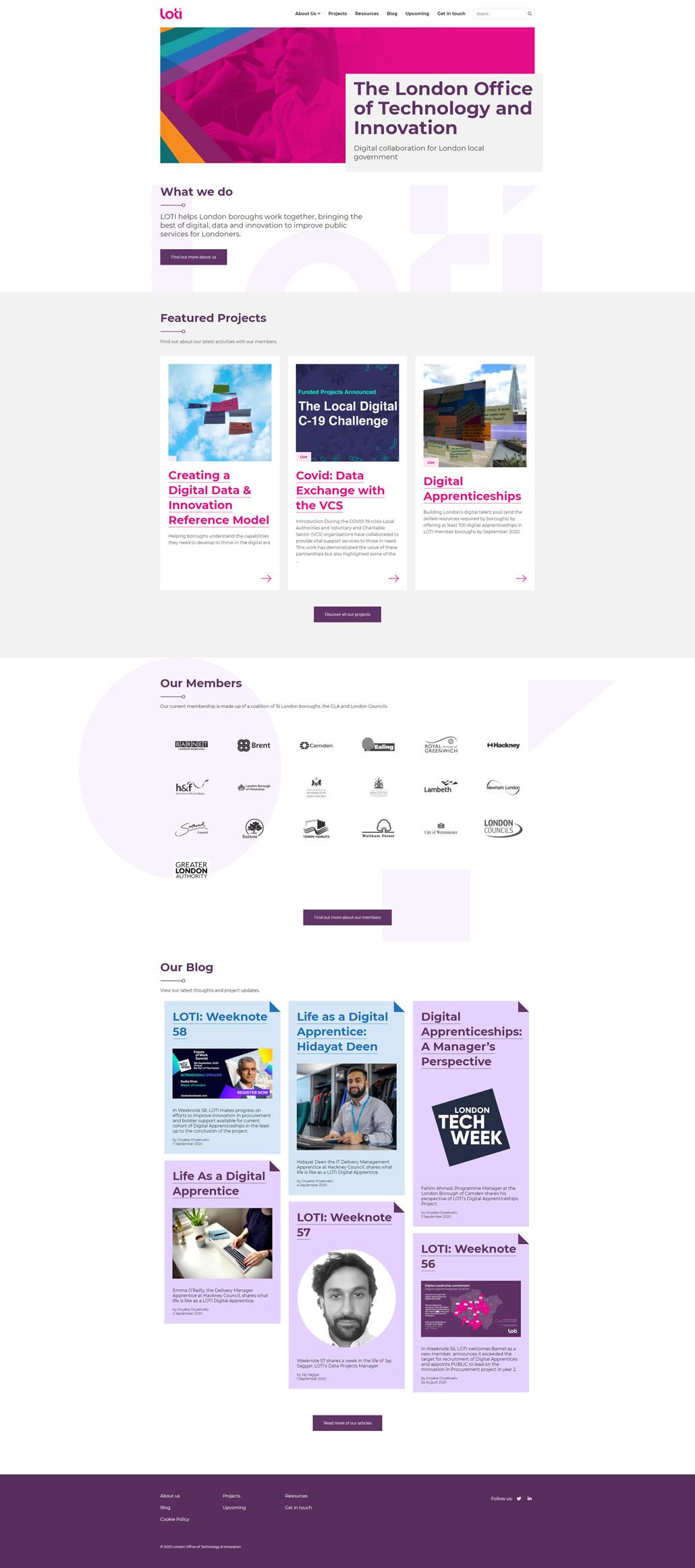 Loti built using WordPress by Convoy Media