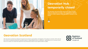Geovation built using WordPress, web design by Convoy Media
